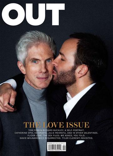 פורד עם בן זוגו ריצ'רד באקלי על שער מגזין אאוט. זוגיות יציבה לאורך 24 שנה