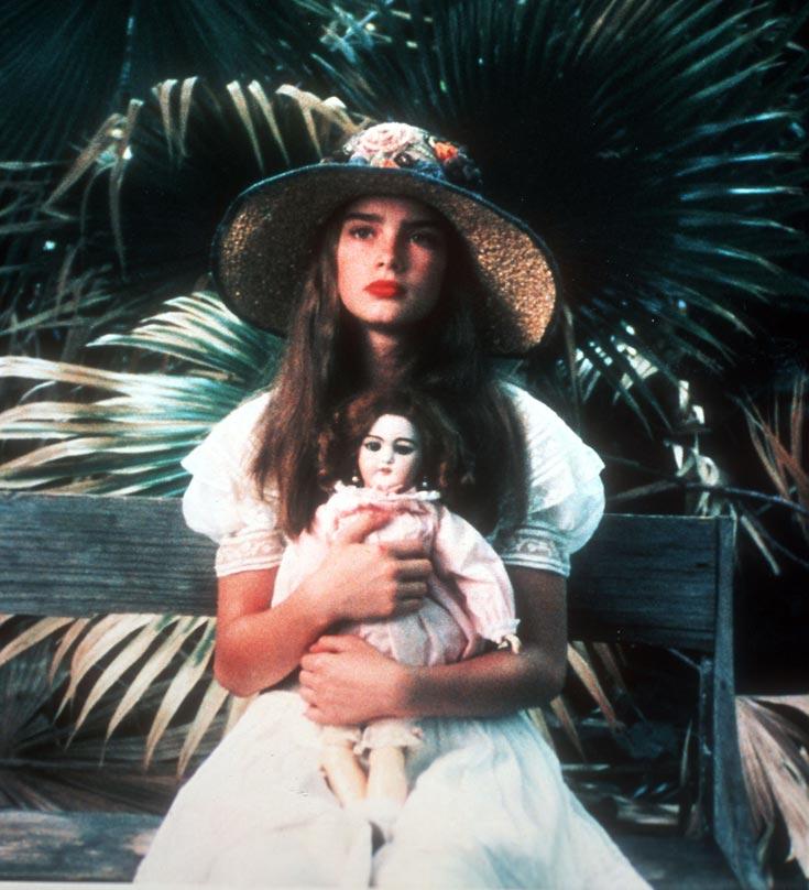 ברוק שילדס בת 11 בסרט ''ילדה יפה''. נימפת עירום קטינה (צילום: alamy_asap)