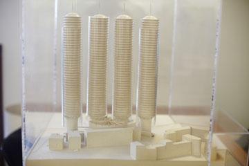 ארכיטקטורה דורסנית. ההצעה הלא ממומשת של כרמי לפרויקט ''מרכז היקום'' בירושלים (צילום: ניקיטה פבלוב)