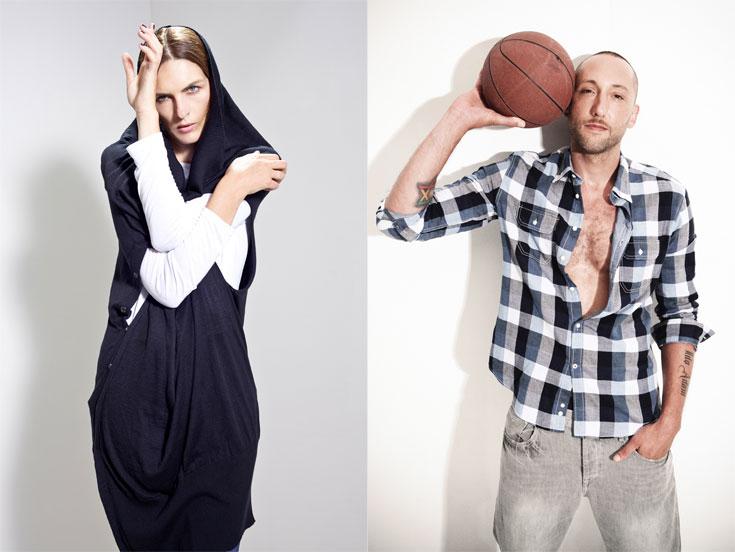 גילי מוסינזון (מימין) מביא סקס אפיל לא מיופייף לקמפיין של סליו; וקים איגלינסקי שומרת על המראה הביוני בקמפיין של מאיה נגרי (צילום: שי יחזקאל, רון קדמי)