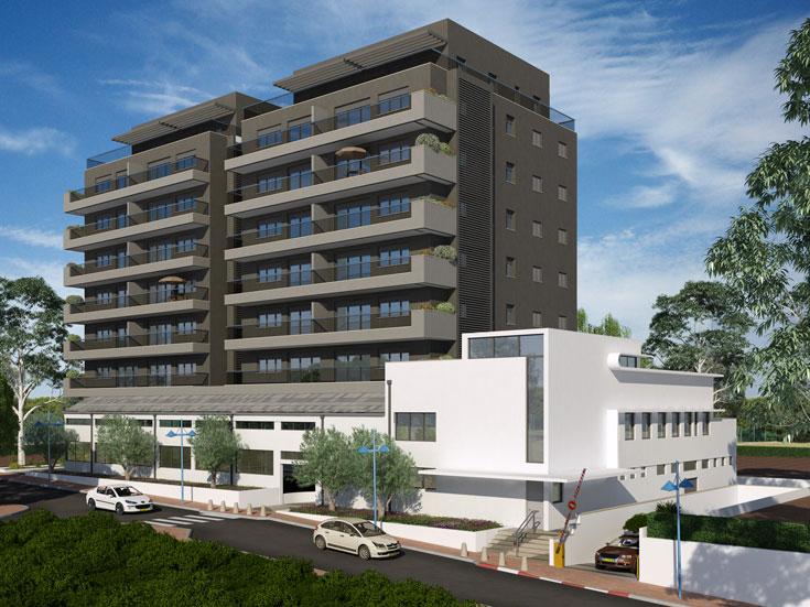 משרדו מטפל גם בפרויקטים למגורים. זאת הדמיה של אחד מהם, המתוכנן כעת בחולון (באדיבות משרד מנדל מנדל אדריכלים)