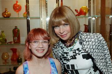 עם אנה ווינטור. הפכה ליקירת תעשיית האופנה (צילום: gettyimages)