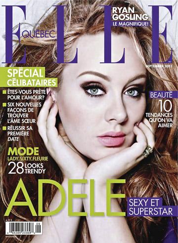 על שער גיליון ספטמבר של המהדורה הקנדית של Elle