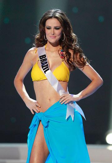 מיס ברזיל, פריסילה מחדו. סגנית שנייה (צילום: רויטרס)