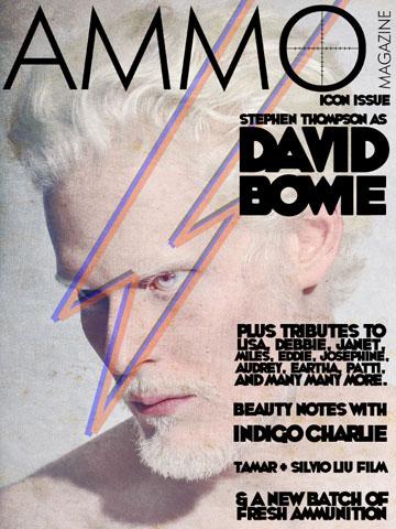 דימוי נוסף בהשראת דיוויד בואי, על שער מגזין AMMO