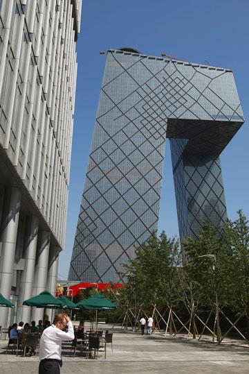 מטה CCTV בבייג'ין, בתכנון OMA (צילום: gettyimages)