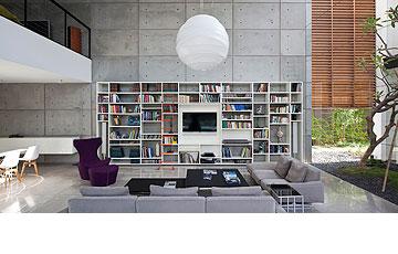וילה בחיפה, בתכנון פיצו קדם. הרהיטים נקנו ב''הביטאט'' (צילום עמית גרון)