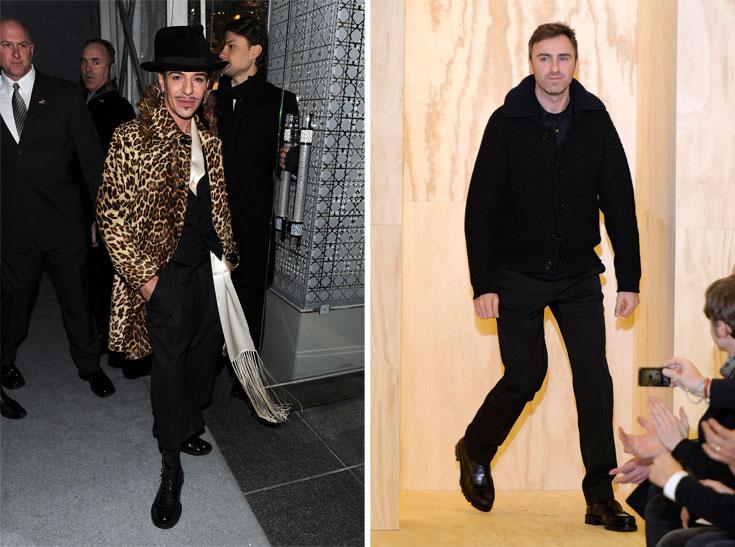ראף סימונס (מימין) וג'ון גליאנו. בחירה מפתיעה וטבעית גם יחד (צילום: gettyimages)