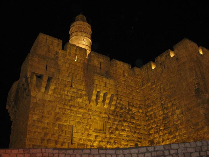 לילות לבנים במגדל דוד (צילום: אריאלה אפללו)